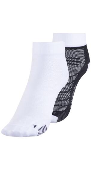 Eightsox Black 2 Double Pack - Chaussettes course à pied - blanc/noir